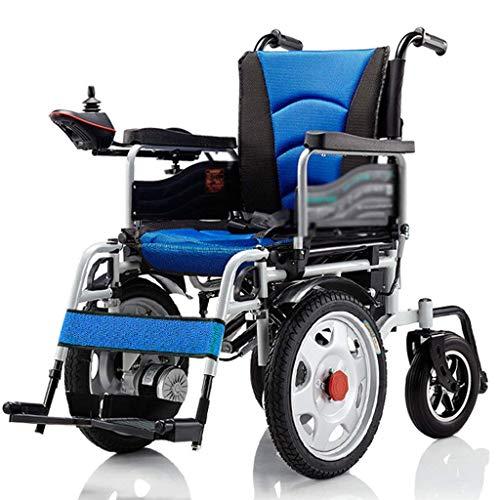 L-Y Heavy-Duty Ouderen Utility Elektrische Rolstoel, Opvouwbare Rolstoel en Licht Vermogen Rolstoel Zitbreedte 45Cm 360° Joystick 250W * 2 Gewicht Capaciteit 150Kg voor de Ouderen (Blauw)