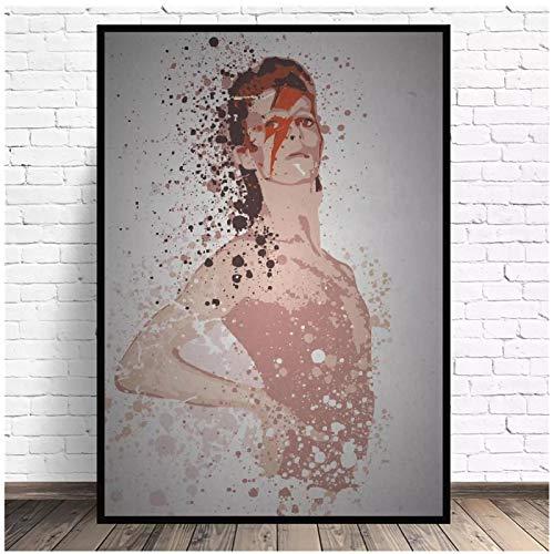 PDFKE Ziggy Stardust Music Legen Art Poster e Stampe su Tela Wall Art Pictures for Room Decor Decorazioni da Parete Dipinti Regalo -50x70 cm Senza Cornice