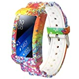 Veczom for Gear Fit 2 Bands Gear Fit2 Pro Band Silicone Strap Compatible with Samsung Gear Fit 2 Pro SM-R365/Gear Fit2 SM-R360 Smartwatch Fitness Wristband with Frame Accessories (Colorful)