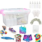 Color Fast Tie Dye Kits for Kids & Adults, 26 Colors Fabric Dye Kit INST Permanent Tie Dye DIY Set with Rubber Bands, Gloves and Table Covers for Festivals, School Activity, DIY Party