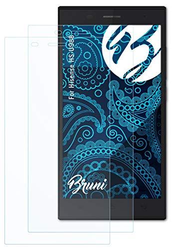 Bruni Schutzfolie kompatibel mit Hisense HS-U988 Folie, glasklare Bildschirmschutzfolie (2X)
