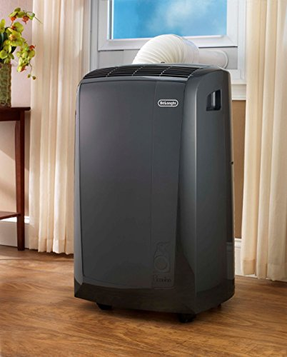 De'Longhi 4-in-1 Portable Air Conditioner, Dehumidifier, Heater & Fan + Remote Control & Wheels, 500 sq. ft, Large Room, 13000 BTU, Dark Gray, PACN130HPE