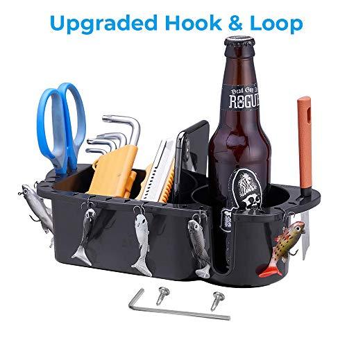 kemimoto Boat Organizer, Boat Cup Holder Marine Caddy Household Storage Box Black