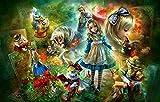 JIAORLEI Puzzle De 1000 Adultos Rompecabezas De Zhang-Alice In Wonderland-Puzzle Niños Decoración del Rompecabezas Juego De