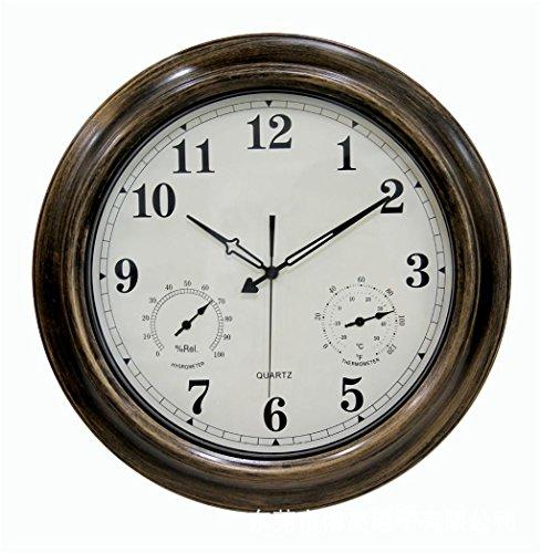 LQ-wall clock Relojes de Pared Reloj de Pared Redondo Sencillo DE 18 Pulgadas Reloj de Pared Impermeable Fácil de Leer con Números elevados