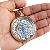 Paradise Nauticals Brass Directional Magnetic Compass with Stainless Steel Compass Needle Navigational Instrument Outdoor Gear (Gold)