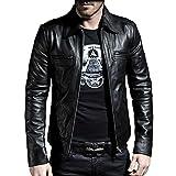 Laverapelle Men's Genuine Lambskin Leather Jacket (Black, Medium, Polyester Lining) - 1501200