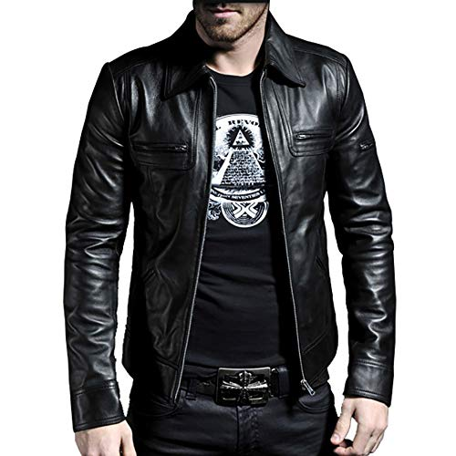 Laverapelle Men's Genuine Lambskin Leather Jacket (Black, Large, Polyester Lining) - 1501200
