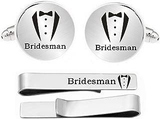 Kooer Wedding Engraved Cuff Links Personalized Wedding Cufflinks Suit Tuxes Gift for Groom Groomsman