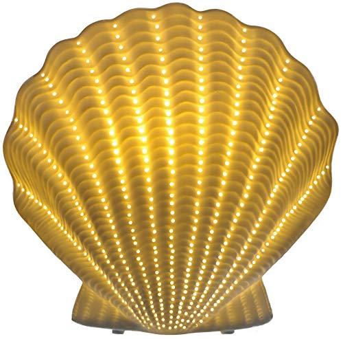 Dekorative Tischlampe aus edlem Porzellan mit elektrischer Beleuchtung Modell 30352 MUSCHEL H 22 cm B 23 cm T 11 cm (ohne Leuchtmittel)