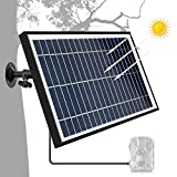 TRAIL WATCHER Solar Panel Charger 12.1V 5.5W DC Puerto Exterior Impermeable para Cámara de Seguridad Wild Camera Speaker DVD DC Equipment