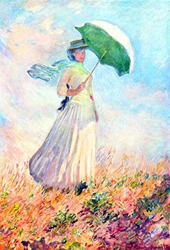 Het Museum Outlet - Lady met zonnescherm, studie door Monet, Stretched Canvas Gallery verpakt. 11,7 x 16,5 inch