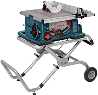 Bosch 10-Inch Worksite Table Saw 4100-09 with Gravity-Rise Wheeled Stand; Portable Table..