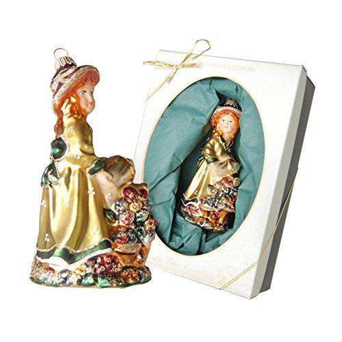 Krebs Glas Lauscha Christmas ciondolo, ANNABELLE Bell