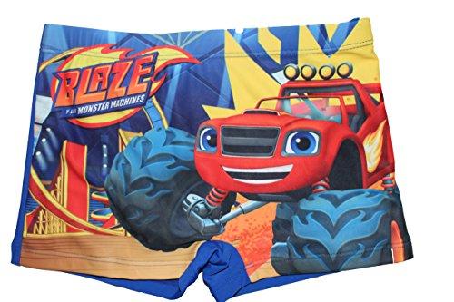 Blaze and the Monster Jungen Maschines Badeshort Badehose (128, Blau)
