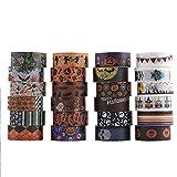Cinta Washi de Halloween 24 rollos Cinta adhesiva decorativa para Halloween con temática para álbumes de recortes cinta de planificador, manualidades,decoración de regalos