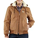 Carhartt Women's 100815 Women's Weathered Duck Jacket - Sherpa Lined - Large - Carhartt Brown
