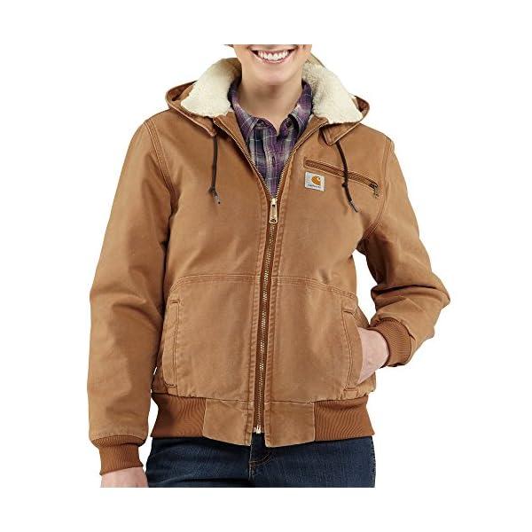 Carhartt Women's 100815 Women's Weathered Duck Jacket-Sherpa Lined