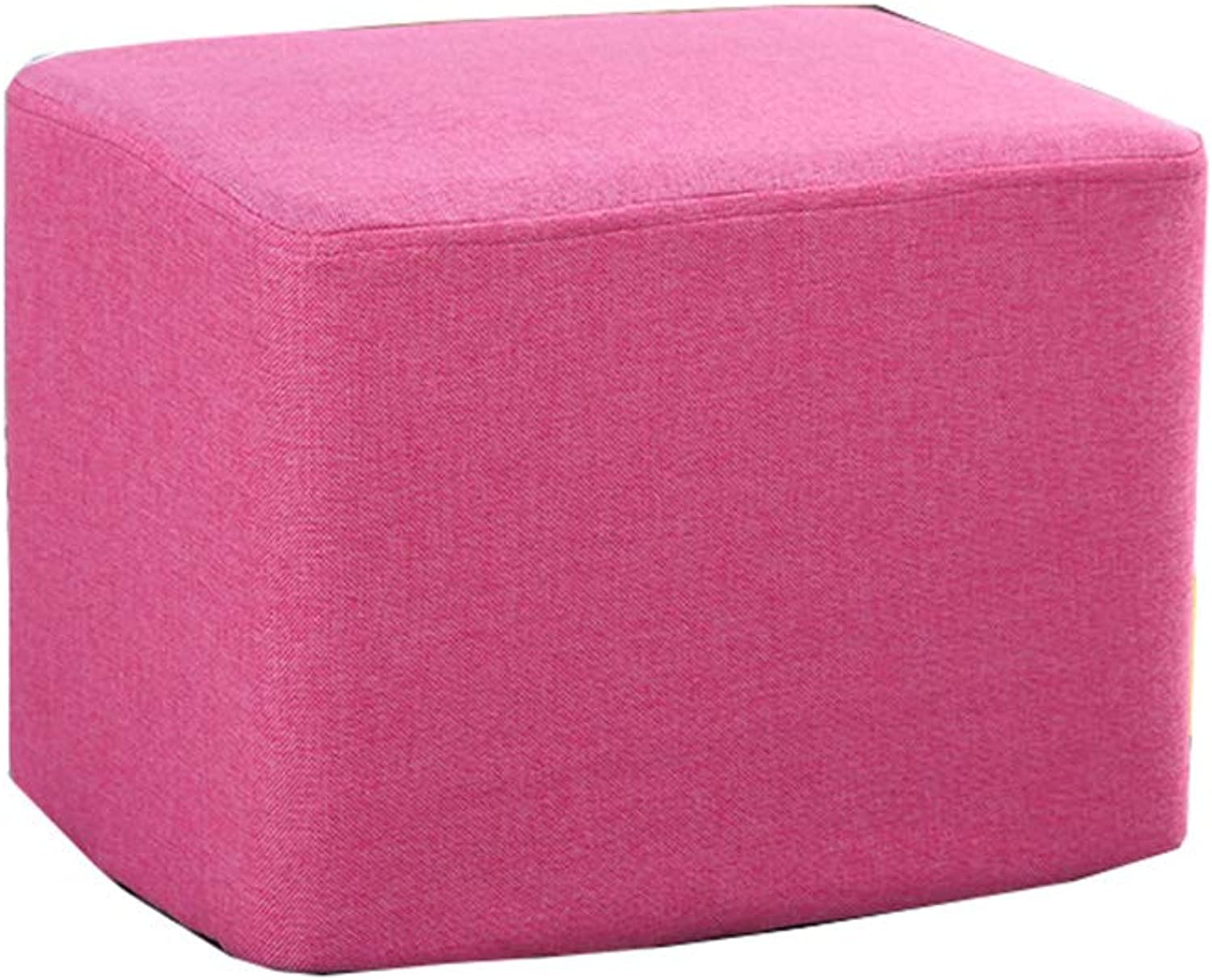 Pink Solid Wood Sofa Bench Change shoes Bench Bedroom Cloth Bed End Stool Osman Fashion Makeup Stool Stool Creative Stool (Size    1)