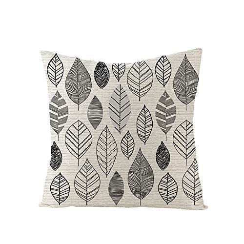 XdiseD9Xsmao Zachte duurzame kussensloop lijn bloem vis geometrische patronen kussensloop Home slaapbank stoel ornament decor 14#