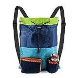 BeeGreen Mixed Color Swim Bag Beach Bag Backpack for Swimmers Gear Pool Large Mesh Drawstring Backpack Mesh Bag