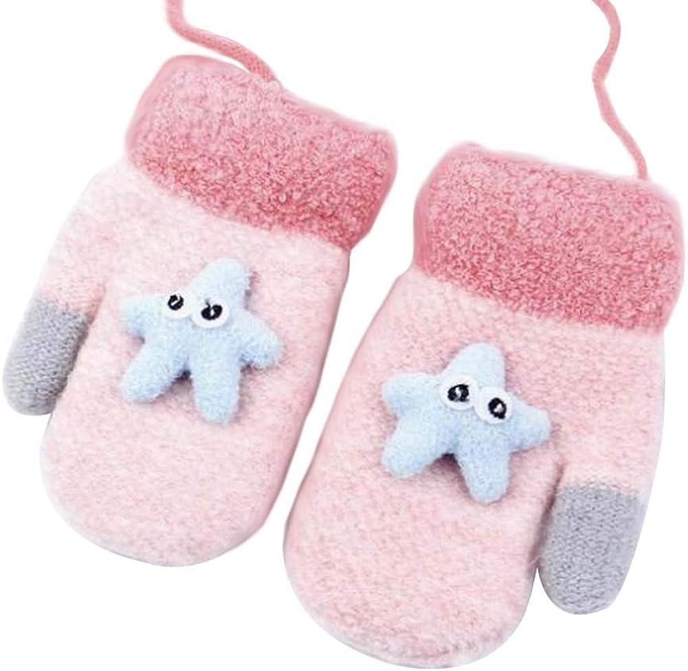Lovely Knitted Baby Mittens Warm Winter Children Mittens Baby Gloves #27