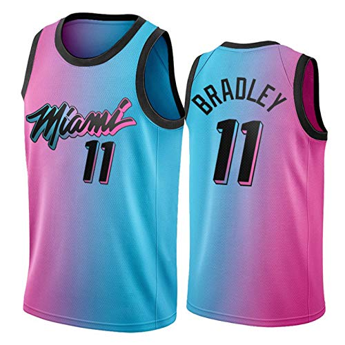 Avery Bradley Jersey para Hombre, 2021 Temporada Edición de la Ciudad Miami Heat 11# Camisetas de Baloncesto, Camiseta de Swing Transpirable Jersey Fans Deportes Ca M