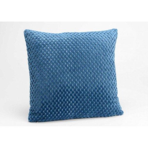 Amadeus - Coussin damier en velours bleu nuit 40X40 cm