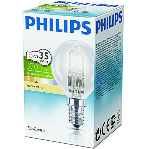 Philips - Lampadina alogena EcoClassic E14 230 V P45, 28 W, confezione da 8 lampadine