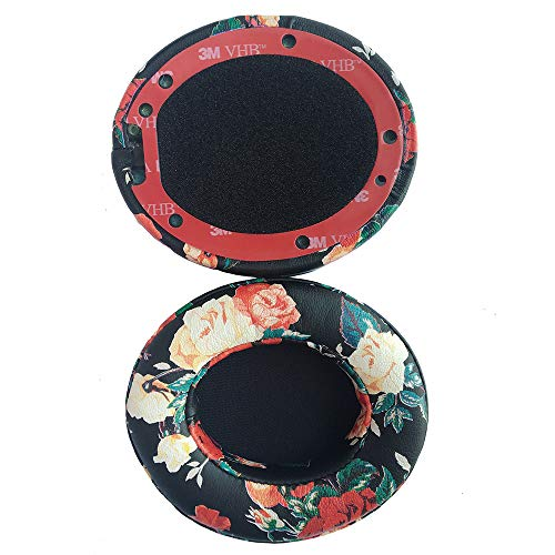 Replacement Ear Pads, Headphone Earpads Cushions Compatible with Beats by dr dre Studio 2, Studio 3, B0500, B0501 Wireless Over Ear Headphones Only (Doesn't fit for Bests other headset) (Black Floral)