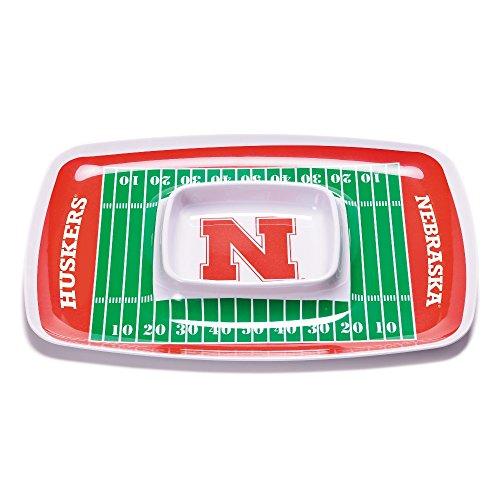 BSI NCAA Nebraska Cornhuskers Melamine Chip and Dip Tray