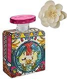 Maroc & Roll - Sicily Bottiglia Grande DIFFUSORE Profumo Ambiente in Porcellana con Fiore di Corteccia di GELSO 375ml - SBTMAXI.B&R04