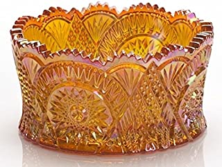 Star and Arched or Diamond Classic Nappy Bowl Mosser USA (Marigold)