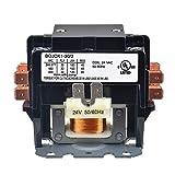 BOJACK 2 Poles FLA 30 Amp Coil 24 VAC Air Conditioner Condenser Compressor Contactor Motor Definite Purpose AC Contactor (Pack of 1 Pcs)