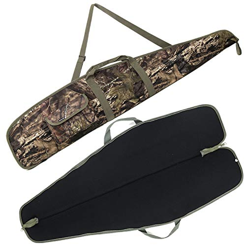 """G GATRIAL Soft Rifle Cases Long Single Gun Bag Outdoors Range Hunting Shooting Firearm Transportation Cases with Foam Padding Classic Carry Bag Camouflage 44"""""""