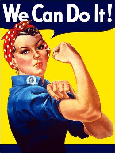 Lienzo 50 x 70 cm: Rosie The Riveter