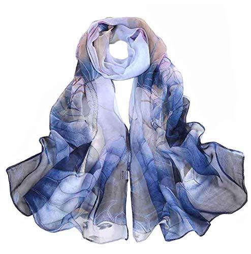 Acotavie Scarfs for Women Lightweight Fashion Scarves Print Floral Pattern Scarf Shawl Wraps (W03)