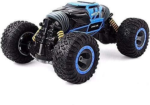 01:24 Azul Off-Road remoto Escalada coche del control de las cuatro ruedas de alta velocidad Roca orugas / Juguetes de vacío del neumático / Bionic Spine Stunt / doble cara Bigfoot Torcer los niños de