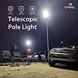 CONPEX Outdoor Camping Lights Travelling LanternTelescopic Fishing Rod Lamp Portable 12V with IR Remote 65W 6500LM Multi-Modes for BBQ Party Emergency Light Court Backyard Farm