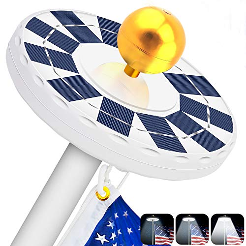 Hallomall solar flag pole light