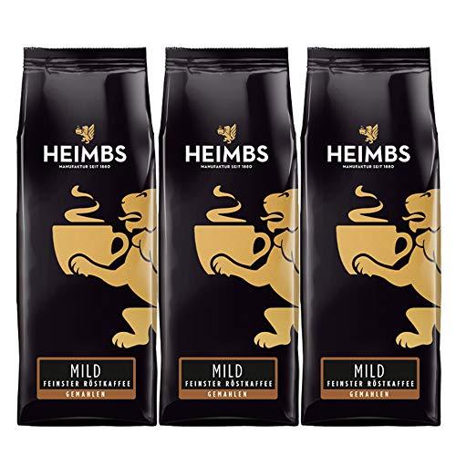 HEIMBS Mild Feinster Röstkaffee, 250g gemahlen, 3er Pack