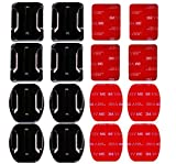 AxPower 16 PCS Helmet 3M Adhesive Pads Sticker Flat Curved Mounts Accessories...
