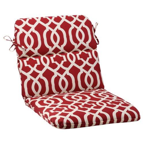 PERFECT PILLOW Cuscino Perfecta di Interno/al AIRE Libre New Geo tondi Cuscino per Sedia, Rosso