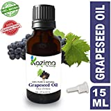 KAZIMA GrapeSeed Cold Pressed Carrier Oil - 100% Pure Natural & Undiluted For