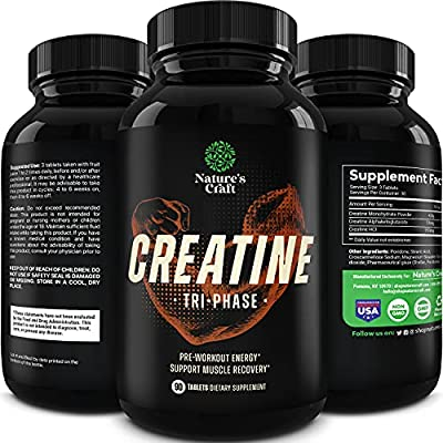 Mass Gainer Creatine Monohydrate Tablets - Natural Creatine Monohydrate Supplement Muscle Builder Pre Workout Energy Booster - Best Creatine Pills for Muscle Weight Gainer and Muscle Toner