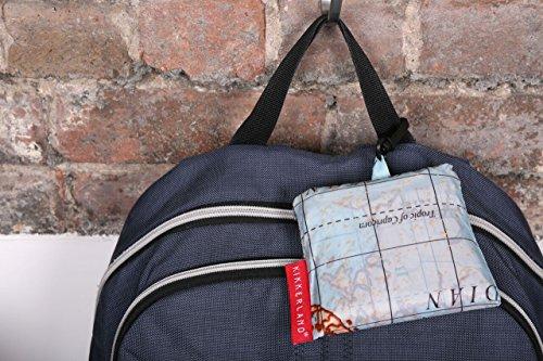Kikkerland Travel-Size Laundry Bag, World Map