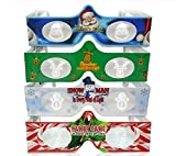 3D Christmas Glasses - 4 Pack Holiday Specs - Hologram Holiday Images