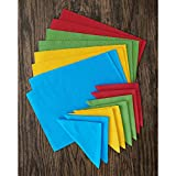Elrene Home Fashions Santa Clara Solid Fiesta Color Placemat and Napkin, Set of 16, Assorted