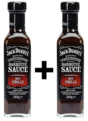 Jack Daniels Barbecue Sauce Hot Chilli 2x 260ml