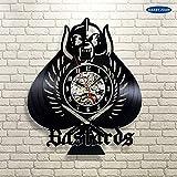 UIOLK Disco de Vinilo Reloj Colgante de Pared Artista decoración del hogar dial Visual